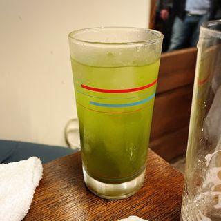玄米緑茶割り
