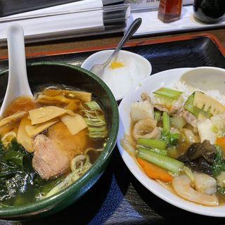 ミニらー麺ミニ中華丼セット