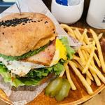 バリネスベジタリアンバーガー+ベーコン・パティ