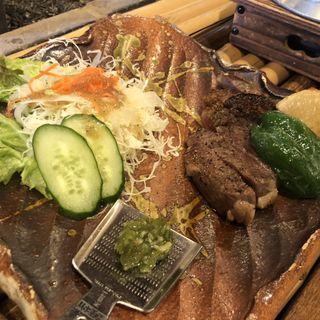 大中牛網焼きステーキ(囲炉裏料理わ )