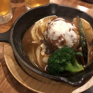 蔵尾ポークのハンバーグ(囲炉裏料理わ )