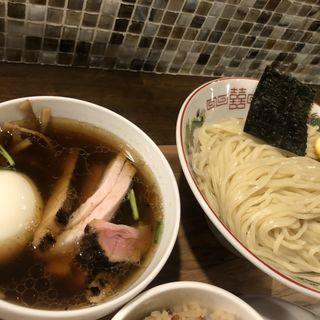 特製鰹本枯節のコンソメつけそば 熟成生醤油 麺大盛り(300g)(Yo-shoku OKADA)