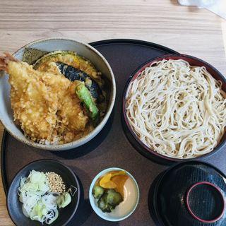 海老天丼と十割そばセット(はな膳 夏見店)