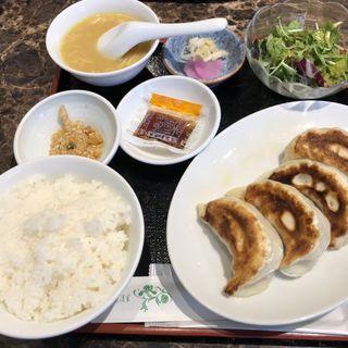 黒豚餃子定食