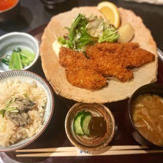 かきフライ膳(銀座かなわ)
