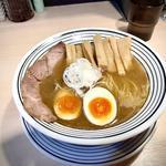 超煮干し味玉らぁうめん+メンマトッピング(猫トラ亭)
