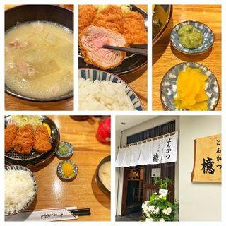 ひれかつ定食(とんかつ 檍 日本橋店)