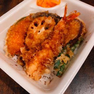 海老野菜天丼弁当