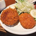 メンチ&コロッケ定食