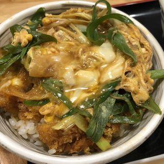 ヒレカツ丼定食(自家製おうどん 三拍子)