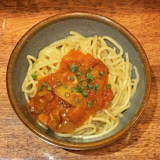 限定 トマトベーコンオニオンアマトリチャーナ合え麺