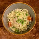 限定 帆立とハニーバジル合え麺