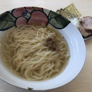のどぐろ煮干しらーめん(だし)(Ramen&Bar ABRI (ラーメンアンドバーアブリ))