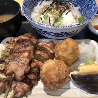 塩の串焼定食(みなと屋 八重洲店 )