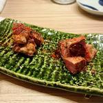芳寿豚の厚切りタン焼き トリュフ塩で
