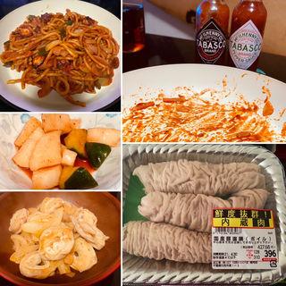 ナポリタン&直腸味噌&キムチ