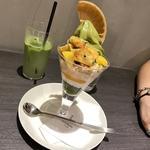 抹茶パフェ 大学芋マロン(伊右衛門カフェ ルクアイーレ店)