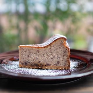 小豆のベイクドチーズケーキ