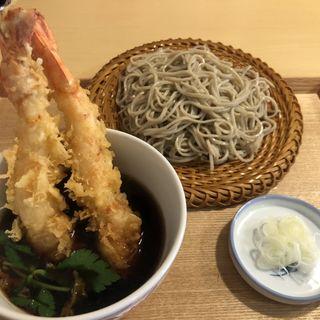 特大えびの天ぷら つけ汁そば