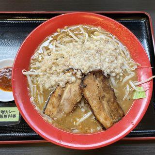 男の修行 味噌伽哩+かゆ飯 200g(黒木製麺 釈迦力 雄 柏原店)