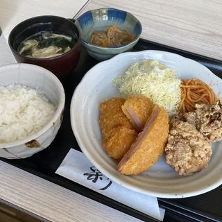 ミックスフライ定食(こなもんや )