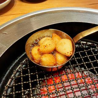 青森産ニンニク焼き