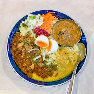 カリー 3種盛り(Curry & Spice Bar 咖喱人)