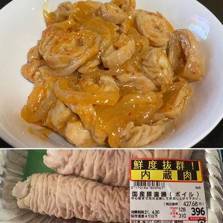 豚直腸味噌煮