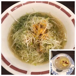 ピリ辛ねぎ塩ラーメンランチ(翡翠麺)