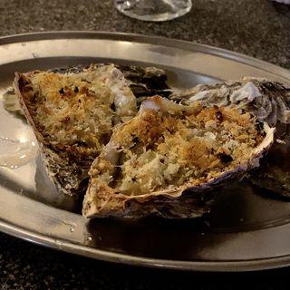 牡蠣の香草バター焼き