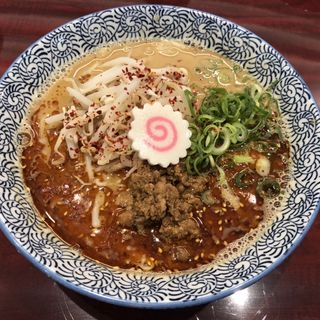 魚担々麺(自家製麺 魚担々麺・陳麻婆豆腐 dandan noodles なんばラーメン一座店)