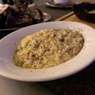 牡蠣のクリームチーズリゾット