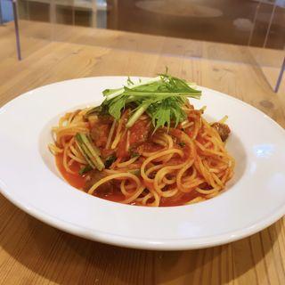 本日のランチ〜5種の前菜と本日のパスタ(オステリア ニンナナンナ (Osteria NINNA NANNA))