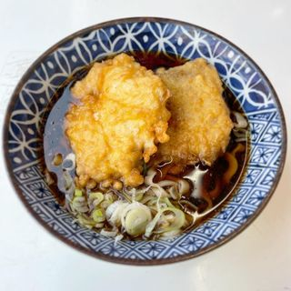 極上太麺鶏天そば(温)(雑賀屋)