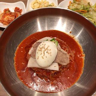 ビビン冷麺定食(焼肉・韓国料理Kollabo(コラボ)横浜みなとみらい店)