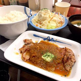 厚切りトンテキ定食シャリアピンソース ポテサラセット(松屋 仙台中央店 )