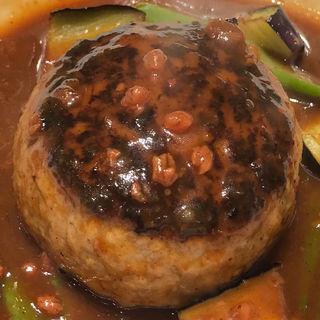 もろみ味噌のデミグラスソースのハンバーグ