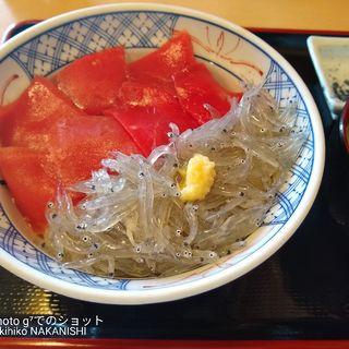 二色丼(マグロ しらす)(マイアミ貝新)