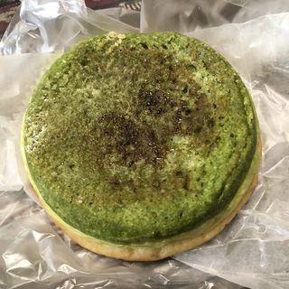 グリーンティーのトリプルクリームパン