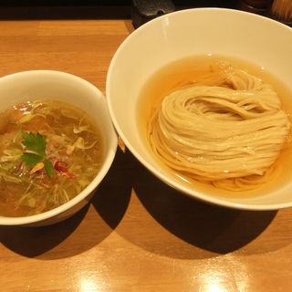 鰹昆布水つけ麺(しお)