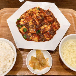 麻婆豆腐ランチセット