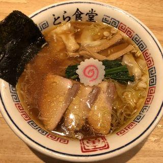 ワンタン麺(白河手打中華そば とら食堂 福岡分店)