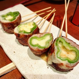 グリーンチー豚巻き串