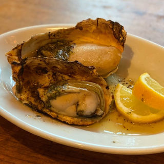 広島産牡蠣のガーリックバター焼き2個