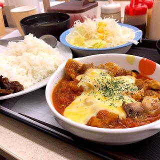 ごろごろチキンのチーズトマトカレー 生野菜セット(松屋 仙台中央店 )