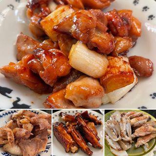 焼き鳥屋風(鶏皮、鶏もも、スペアリブ、ヤゲン)