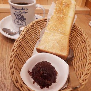 選べるモーニングC トースト&名古屋名物おぐらあん