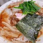 青島ラーメン(並)+ ほうれん草(50円)