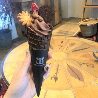 クラフトチョコレート・ソフトクリーム(ミニチュアガーデンカフェ Miniature Garden Cafe)