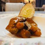 イベリコ豚とひよこ豆のアルザスシチュー